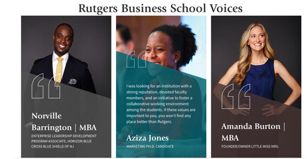 Rutgers School of Business Geometric Design Web Design Trends