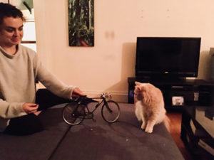iFactory Designer with her cat