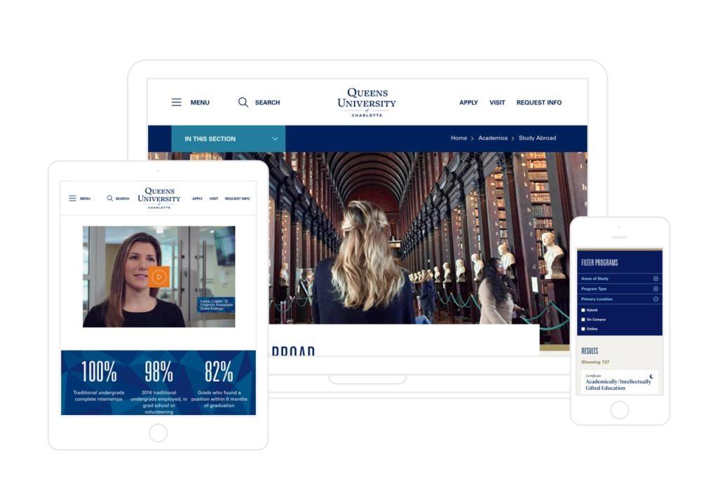 queens website in devices