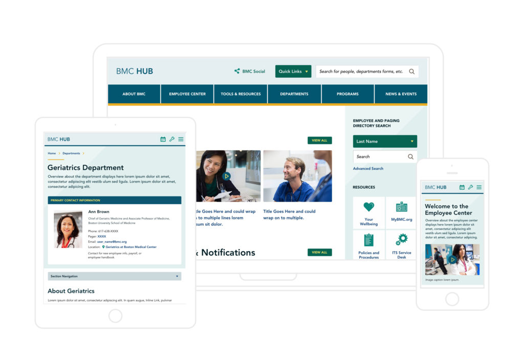 boston medical intranet